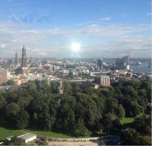 Blick auf Hamburg