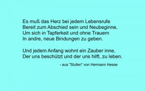 "Herrmann Hesses Gedicht ""Stufen"""