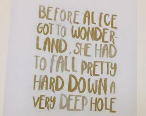 Before Alice got to Wonderland...